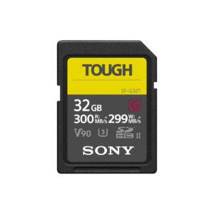SONY Pro Tough SD 128GB 18x stronger UHS-II R300 W299 V90