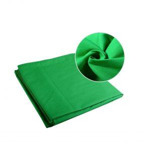 Vihreä Chromakey taustakangas 3 x 5m