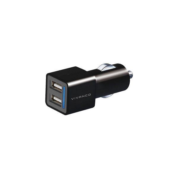 Vivanco Autolaturi 2-Ulostulo 2.1 A USB