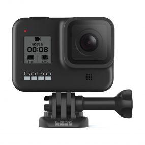 GoPro Hero8 Musta edestä telineessä