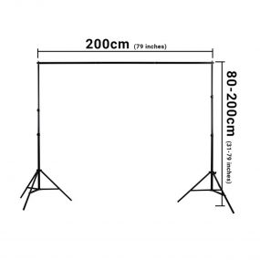 Hakutatz 2x2m Background Support Kit