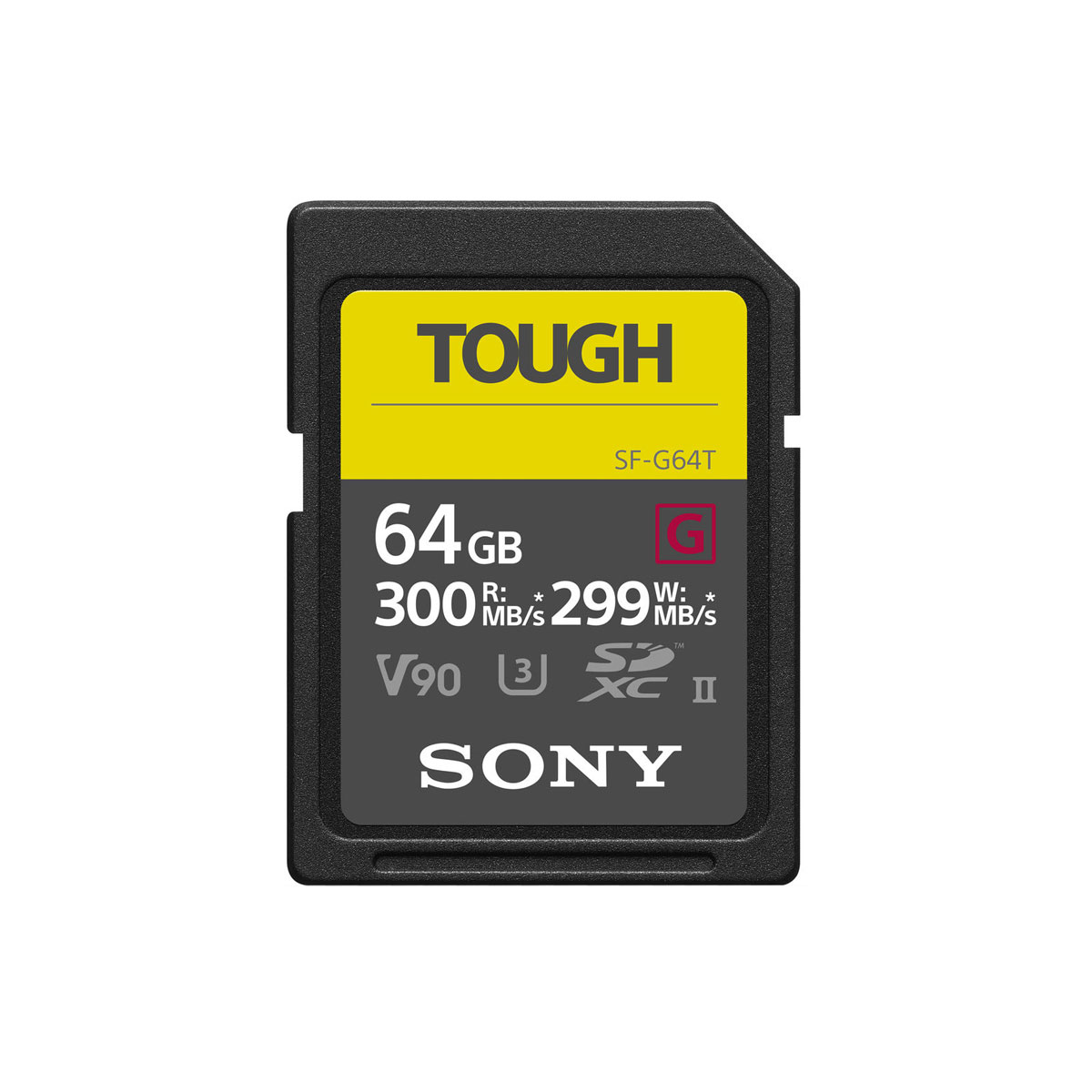 SONY Pro Tough SD 64GB 18x stronger UHS-II R300 W299 V90