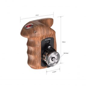 SmallRig Right Side Wooden Hand Grip with Record Start/Stop Remote Trigger for Sony Mirrorless Cameras 2511