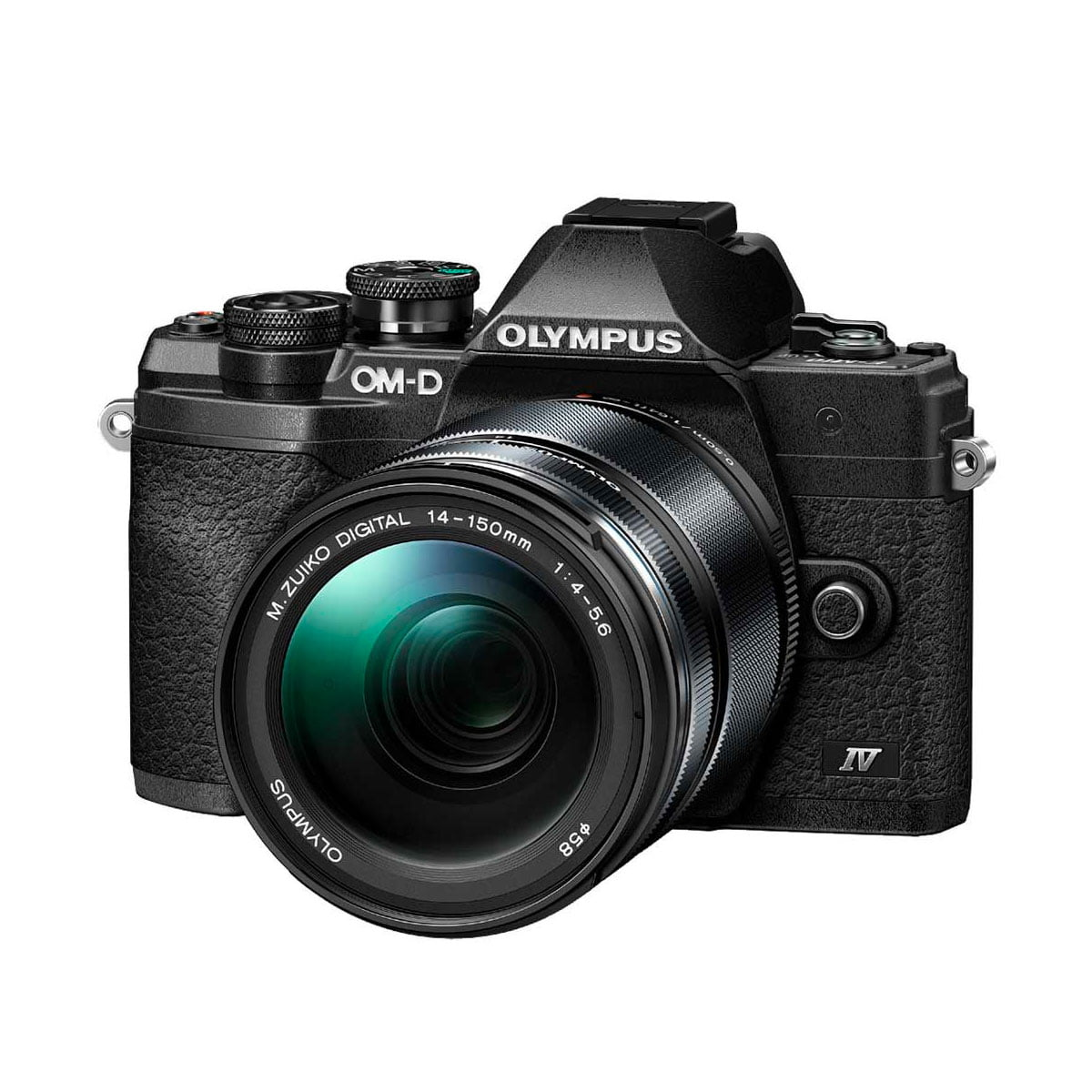 Olympus OM-D E-M10 Mark IV + M.ZUIKO DIGITAL ED 14‑150mm f/4-5.6 II – musta