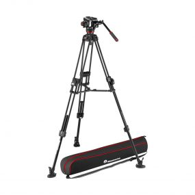 Manfrotto 645 Fast Twin Tripod + 504X Fluid Video Head