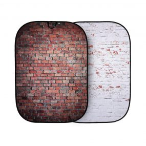Lastolite Urban Collapsible Background 1.5 x 2.1m Classic Red/Distressed Whte Brick