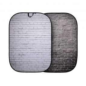 Lastolite Urban Collapsible Background 1.5 x 2.1m Painted White/Industrial Grey Brick