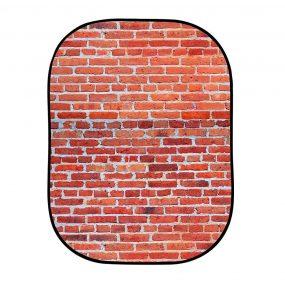 Lastolite Urban Collapsible Background 1.5 x 2.1m Red Brick/Grey Stone