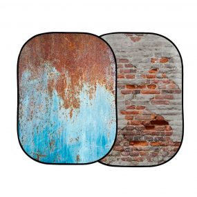 Lastolite Urban Collapsible Background 1.5 x 2.1m Rusty Metal/Plaster Wall