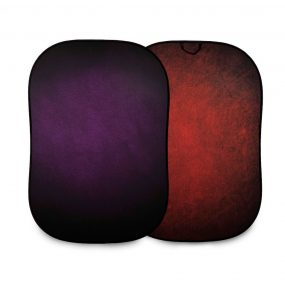 Lastolite Vintage Collapsible Background 1.5 x 2.1m Aubergine/Crimson